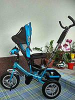 Трехколесный детский велосипед Royal Trike 588-L(2018) (надувные колеса & фара & поворот)