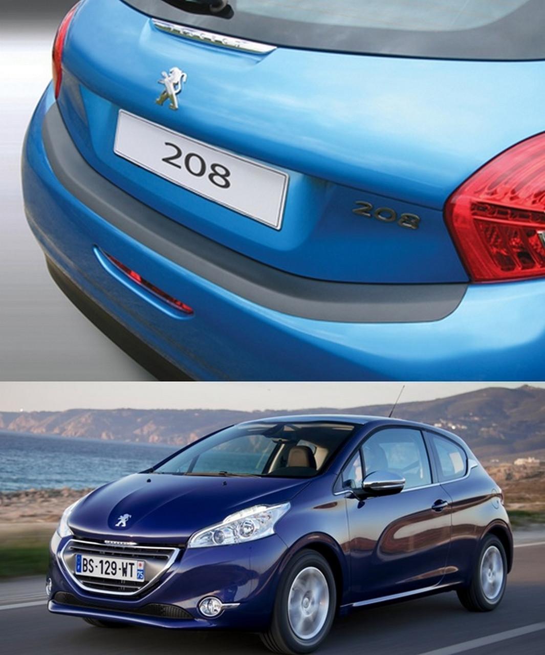 Накладка заднего бампера Peugeot 208 2012>