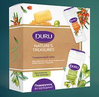 """Подарочный набор """"Duru Natures Treasures"""" (2 геля для душа по 250 мл. + 1 мыло 90 г.)"""