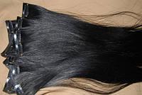 Волосы славянские на клипсах (заколках) темные