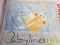 Детское махровое полотенце с капюшоном для купания.