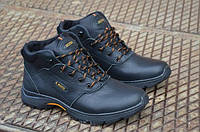 Мужские зимние кожаные ботинки Ecco (145 чер.бот.)