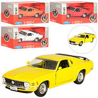 """Машинка 49767CW """"Welly. 1970 Ford Mustang Boss 302"""", 12 см (Y)"""