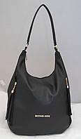Женская сумка-мешок Mi-hael Kor$, цвет черный в стиле Майкл Корс MK, фото 1