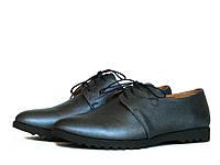 Осенние туфли кожаные на шнурках