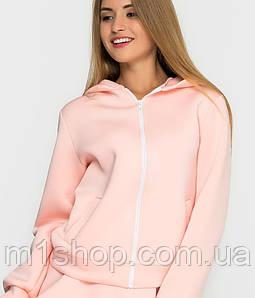 Женская куртка с капюшоном из неопрена (1244 sk/ist) Розовый