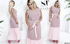 Красивое платье-сарафан макси