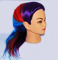 Голова манекен учебная, искусственные термо волосы, для плетения и причесок
