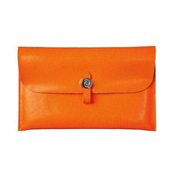 Кожаный чехол d-park Big Button  для планшета iPad mini 4/3/2/1 оранжевый