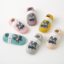Детски носки антискользящие с махровой подошвой Котята
