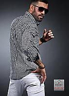 Клетчатая нарядная мужская рубашка, фото 1