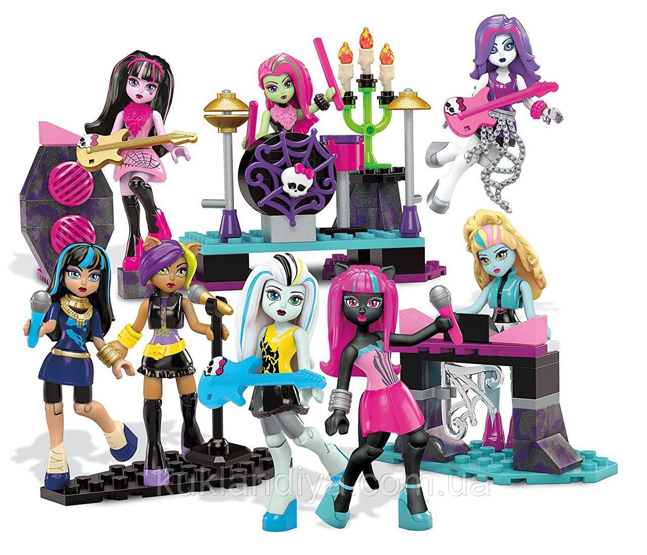 Конструктор Mega Bloks Monster High гламурная группа