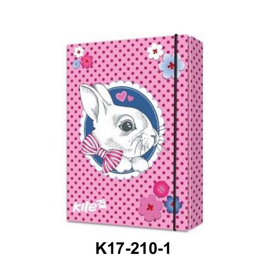 Папка для тетрадей на резинке  Kite K17-210 Gute Bunny