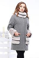 Женское демисезонное шерстяное пальто oversize Кейлин