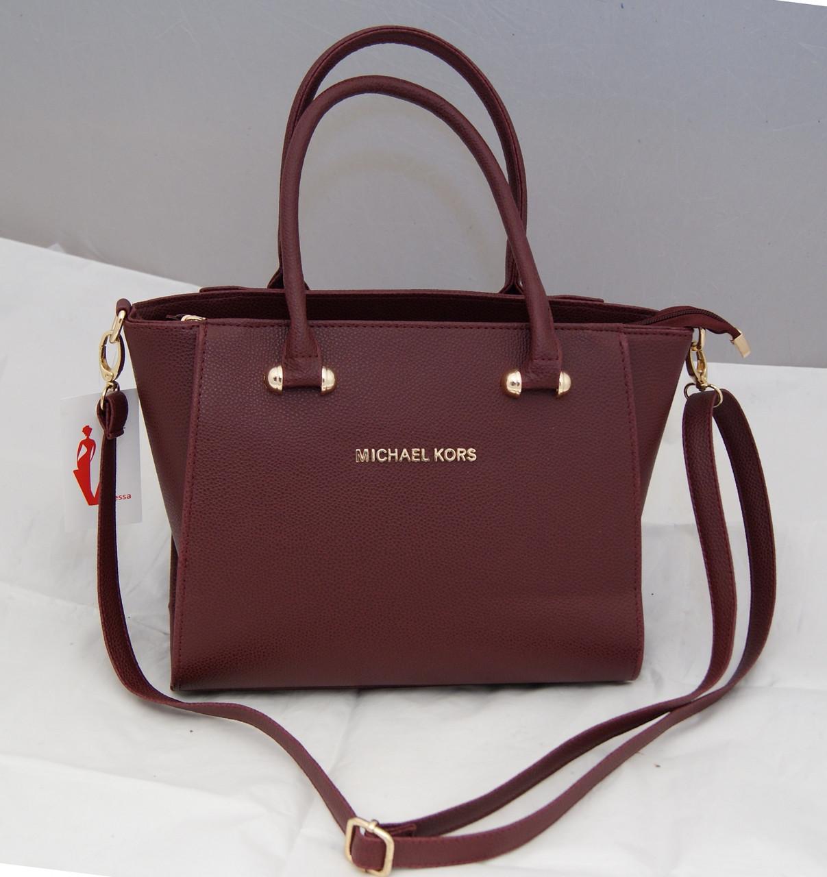 Женская сумка Michael Kors, цвет бордовый Майкл Корс MK