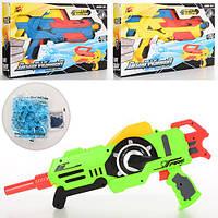 Пистолет K84-5-6 (36шт) 44см, водяные пули, 3 цвета, в кор-ке, 40-25-7см