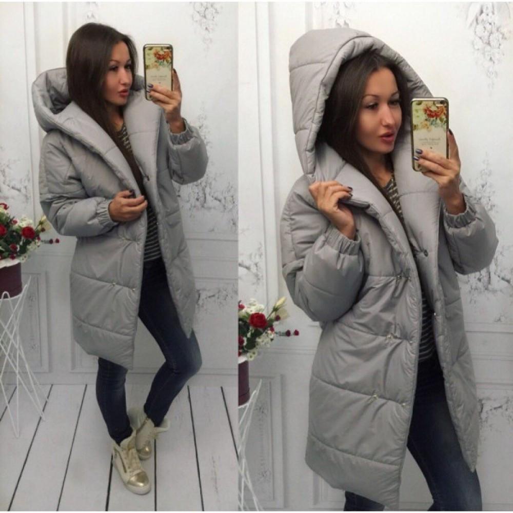Куртка женская зимняя длинная Лямбда зима серая - Интернет-магазин товаров  для всей семьи