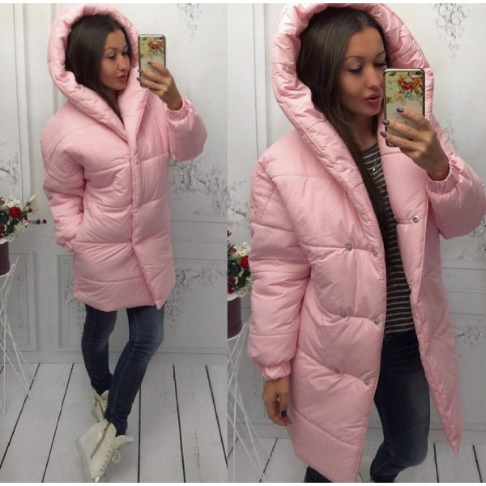 Куртка женская зимняя длинная Лямбда зима розовая - Интернет-магазин  товаров для всей семьи