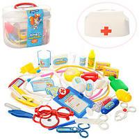 Набор доктора M 0461 U/R (24шт) 36 предметов, свет, в чемодане, 22-17-12см