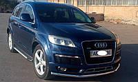 Защита переднего бампера (ус, труба) Audi Q7 нержавейка
