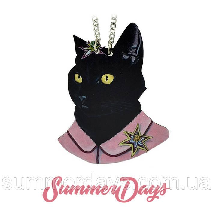 Кулон черный кот