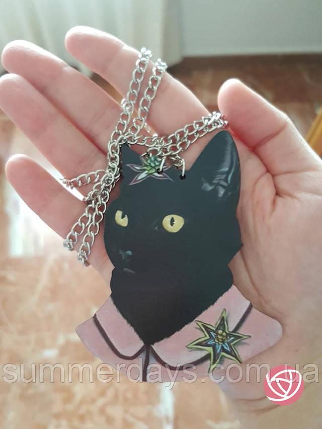 Кулон черный кот фото клиентов
