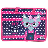 "S1702 Сумка с ручками ""My little cat"", 26х32 см"