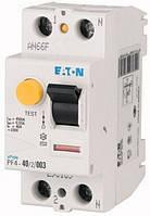Дифференциальный автоматический выключатель PFL6-40/1N/C/003 Moeller-EATON ((CB))(286471-), 286471