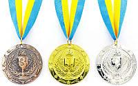 Медаль спортивная с лентой BOWL d-6,5см (металл, 38g)