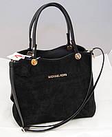 Женская замшевая сумка Michael Kors, цвет черный Майкл Корс MK, фото 1