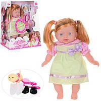 Кукла 299-A (18шт) мягконабивная,32см,собачка, расческа,зеркало,звук,на бат(таб),в кор-ке,28-36-17см