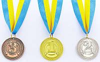 Медаль спортивная с лентой CELEBRITY d-4,5см (металл, 20g)