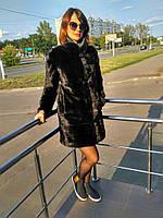 Шуба трансформер женская норковая черная
