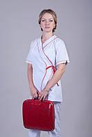 Костюм медицинский с завязкой сбоку размер 40-50