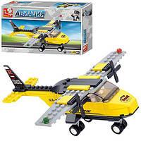 Конструктор SLUBAN M38-B0360 (72шт) авиация, самолет, фигурка,110 дет, в кор-ке, 23,5-14,5-4,5см