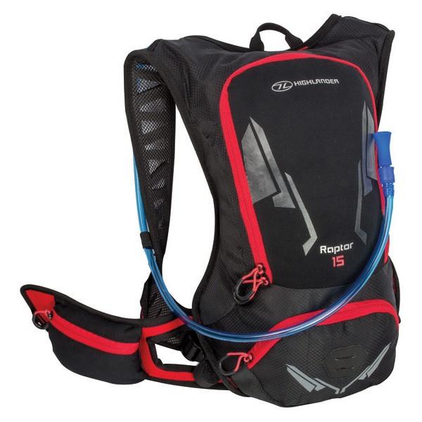 Рюкзак Highlander Raptor Hydration Pack 15 Black/Red