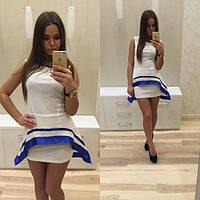 Платье женское молодежное с короткой юбкой
