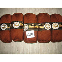 Турецкая  пряжа для вязания  Madame Tricote   MERİNO GOLD 400 (мерино голд ) меринос 60% шерсть - 084 терракот
