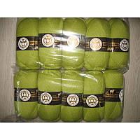 Турецкая  пряжа для вязания  Madame Tricote   MERİNO GOLD 400 (мерино голд ) меринос 60% шерсть - 064 фисташка