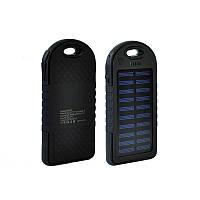 Солнечная батарея портативная зарядка Power Bank Solar 2USB 6000 mAh Black
