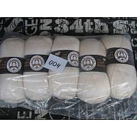 Турецкая  пряжа для вязания  Madame Tricote   MERİNO GOLD 400 (мерино голд ) меринос 60% шерсть - 004 молочный