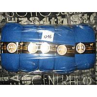Турецкая  пряжа для вязания  Madame Tricote   MERİNO GOLD 400 (мерино голд ) меринос 60% шерсть - 016 василек