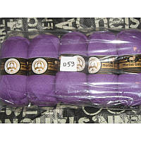 Турецкая  пряжа для вязания  Madame Tricote   MERİNO GOLD 400 (мерино голд ) меринос 60% шерсть - 059 сирень