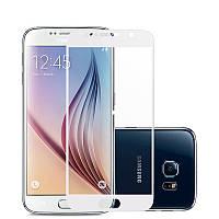 Закаленное защитное 3D стекло (на весь экран) для Samsung Galaxy J3 (2017) J330 (Белое)
