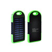 Внешний солнечный аккумулятор  Power Bank Solar 2USB 6000 mAh Black-green