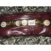Турецкая  пряжа для вязания  Madame Tricote MERİNO GOLD 400 (мерино голд )меринос 60% шерсть - 035 бордо