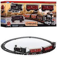 ЖД 2009-27 (30шт) локомотив 16,5см, вагоны 3шт,14,5см, зв,св, на бат-ке, в кор-ке, 56-23-8см
