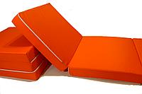 Матрас раскладной 70*195 см, раскладушка, пуф-кровать оранжевый
