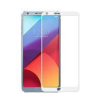 Закаленное защитное 3D стекло (на весь экран) для LG G6 H870 / H870DS (Белое)