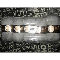 Турецкая  пряжа для вязания  Madame Tricote MERİNO GOLD 400 (мерино голд )меринос 60% шерсть -007 светло-серый